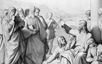 Jesus with the Pharisees [Wide]