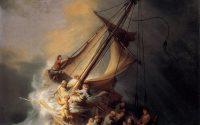Rembrandt Jesus storm sea