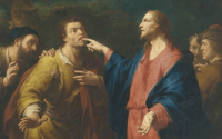 Jesus heals deaf mute